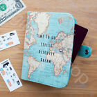 Vintage World Map Travel Accessories Passport Cover Holder Luggage Tag Notebook
