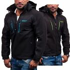 BOLF Herrenjacke Softshell Atmungsaktiv Sweatjacke Sport Kapuze Zip MIX 4D4 Men