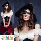 GYPSY PIRATE WENCH CARIBBEAN + HAT - UK 8-18 - womens ladies fancy dress costume