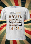 Yoga Cats Kitten Kitty Funny Gym Cute T-shirt Vest Top Men Women Unisex 2006