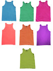 Neon Multi-Color Sleeveless T-Shirts Adult XL Pre-Shrunk Cotton Alstyle Apparel