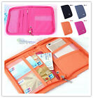 Multi-Functional Compact Zippered Passport cards cash Travel Document Wallet