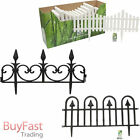 Flexible Garden Border Fence Picket Plastic Lawn Edge Edging Path Grass Flower