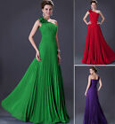 UK CLEARANCE~~Long One Shoulder Bridesmaid Homecoming Evening Maxi Prom Dresses
