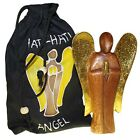 Hati Hati Angels 25cm Large Hand carved wooden Friendship Guardian angel + Bag