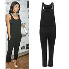 Ladies Womens Celebrity Dungaree Pinafore Tailored Jumpsuit Trouser Pants UK8-16