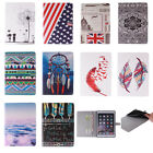 New Painting drawing Cartoon Leather Flip Stand Smart Case Cover for iPad Tablet