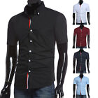 Summer Premium Men's Casual Shirts Slim Fit Formal Dress Shirts Tops Button Down