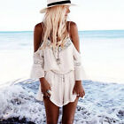 Women Fashion Summer Solid Playsuits Ladies Beach Jumpsuits Short Lace Romper