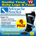 4 Pr Compression MIRACLE SOCKS for Aching Feet, Varicose Veins, Flight, Travel
