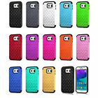Bling Diamonds Hybrid Shockproof Rubber Hard Case Cover for Samsung Galaxy S6