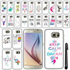 For Samsung Galaxy S6 G920 Cute Design PATTERN HARD Case Phone Cover + Pen