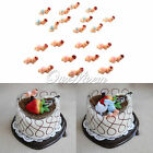 12/24/48pcs Baby Shower Party Plastic Babies Born Party Game Cake Decoration Hot