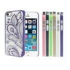 NEW Carved Damask Henna Floral Flower Case Cover Skin For iPhone 5 5S 5G Tide
