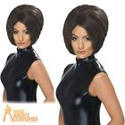 Ladies Posh Spice Girl Wig Victoria Beckham Brown Bob Fancy Dress Accessory New