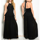 women's jumpsuit romper palazzo pants pleated Black maxi dress jumper outfit