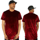 Kanye Velour Long Drop Hi Low Tail T-Shirt  Hip Hop Clubbing Wine Velvet Street