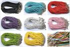 Wholesale 5/10Pcs Man-made Leather Braid Rope Hemp Necklace 3mm 13 Colors Pick