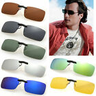 Polarised CLIP-ON Sun Glasses Car Driving Fishing Golf Outdoor Wear Over Lenses