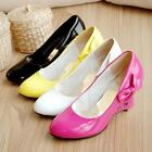 Womens Sweet Heart Sheap Wedge Synthetic Leather Party Pumps Heel Shoes 2015