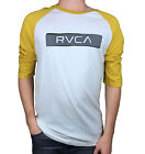 RVCA. Gold / White. Baseball Cut Long Sleeve T-Shirt. Size Small, Large, X-Large