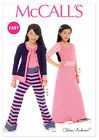 McCalls 6985 Easy Girls Cardigan Top Skirt Trousers Sewing Pattern 7-16Yrs M6985