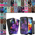 For Samsung Galaxy S5 G900 Layer Slim TPU Hybrid Protector Hard Case Cover + Pen