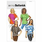 Butterick 5753 Top T-shirt Tie Front Short Sleeves Sewing Pattern B5753 4 in 1