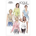Vogue 7876 Easy Wrap Top Long Short Sleeve V Neck Sewing Pattern V7876 5 in 1