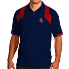 Boston Red Sox Antigua Embroidered Xtra-Lite Navy Blue Fusion Polo Golf Shirt