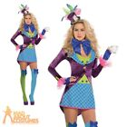 Adult Sexy Mad Hatter Costume Ladies Alice Tea Party Fairytale Fancy Dress New