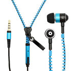 3.5mm Tangle-Free Zipper Earphones Headset Mic Earbuds For iPhone 6 Plus 5 5S 5C