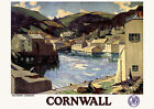 Cornwall - Polperro Harbour GWR - repro vintage railway travel poster in 4 sizes
