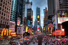 Mcdonalds Times Square New York City Canvas Picture USA Busy Road Wall Art Print
