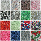 100 SMALL SIZED MIXED BUTTONS WEDDING BLACK WHITE PINK BLUE