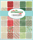 Moda Christmas ' Evergreen ' By Basic Grey Green Red Natural Fabric Fat Quarter
