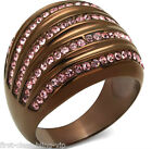 Size 5 6 7 J L N Chocolate Rose Delight Ring Present Stainless Steel LTK1789LCE
