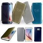 Luxury Mirror Flip Hard PC Clear Case Cover Back For Samsung Galaxy S6