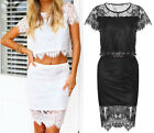 Summer Lace Sexy Women Cocktail Party Clubwear Sheer Evening Prom Beach Dress