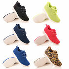 KIDS UNISEX TRAINERS GIRLS BOYS LACE UP SPORTS PUMPS CASUAL FASHION SHOES SIZE