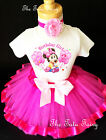 Baby Minnie Mouse Hot Pink 2nd Birthday Shirt Tutu Outfit Se