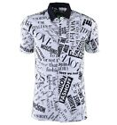 "MOSCHINO Kurzarm Hemd ""Fashion"" Baumwolle Weiß Printed Shirt Cotton White 03665"