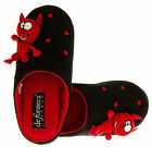Ladies Lovely Devil Mule Comfy Slippers with Love Heart sz Size 3 4 5 6 7 8