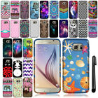 For Samsung Galaxy S6 G920 Cute Design SILICONE Rubber Case Phone Cover + Pen
