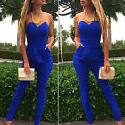 Womens Ladies Casual Summer Long Pants Trousers Playsuit Jumpsuit Romper Overall