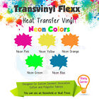 """Heat Transfer Vinyl for T-Shirts - 15"""" x 5 Yards - Neon Colors :)"""