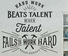 Hard Work Beats Talent Kevin Durant Basketball Wall Decal Vi