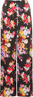 New Plus Size Womens Floral Print Wide Leg Flared Pants Ladies Palazzo Trousers