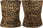 New Womens Animal Print Boob Tube Ladies Leopard Bandeau Stretch Short Top 8- 14