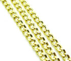 """16-24"""" 2.5mm 10k Yellow REAL Gold Miami Cuban Curb Lite Chain Necklace Mens"""